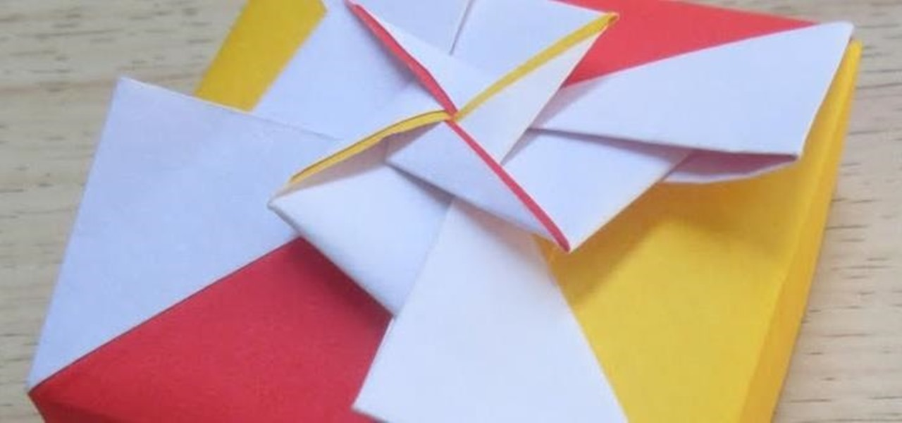 How to Make an Origami Square Box (Lid -Fancy Pinwheels ... - photo#16