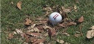 Hit a golf ball on a bad lie