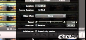 Make a time lapse video using iMovie