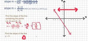 Figure out the slope of a line