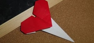 Craft a super simple origami Valentine's Day heart pin