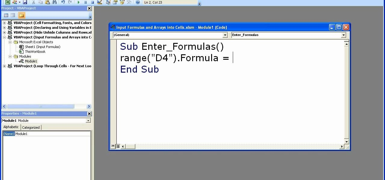 how to add a formula to a column excelt