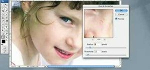 Remove blemishes using Photoshop