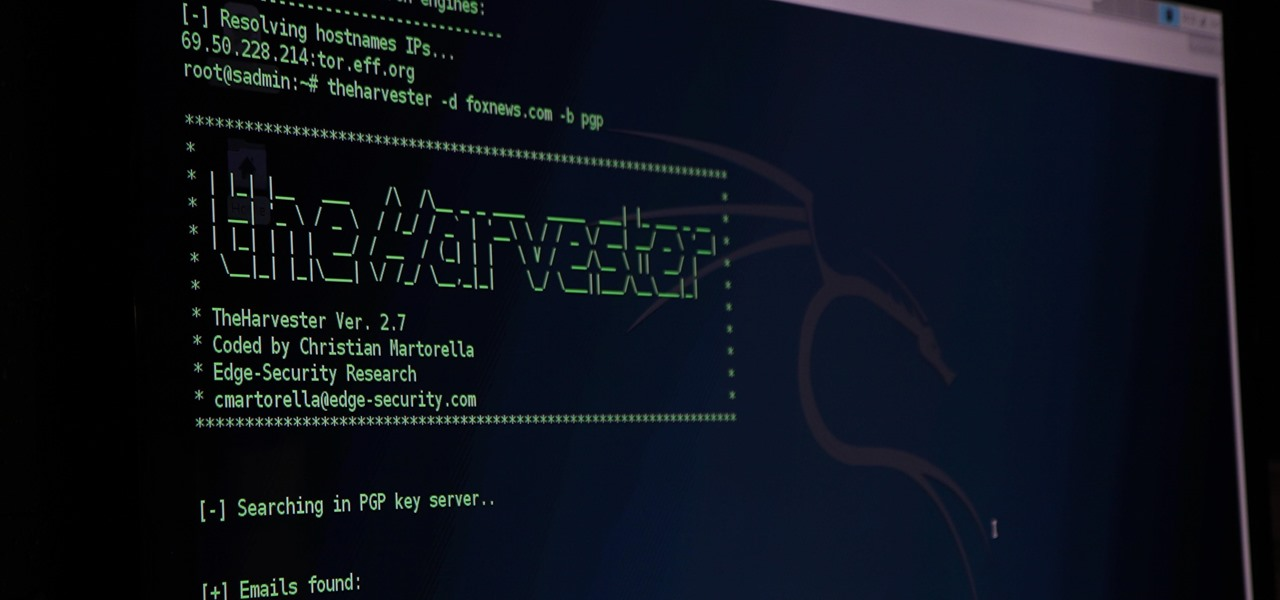 Scrape Target Email Addresses with TheHarvester