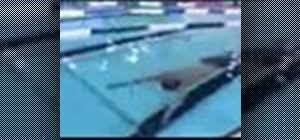 Do an advanced breaststroke in swimming