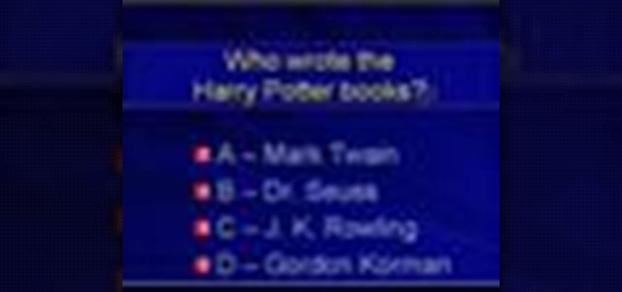 make a multiple choice quiz