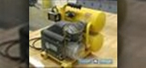Use and maintain an air compressor