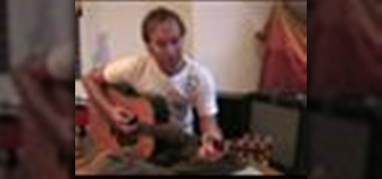 how to play knockin 39 on heavens door hey joe wild thing acoustic guitar wonderhowto. Black Bedroom Furniture Sets. Home Design Ideas