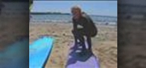 Popup on a surfboard for beginners