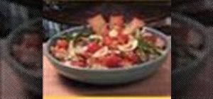 Make green salad with peanut dressing