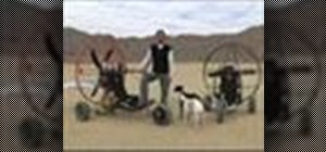 Flya powered paraglider trike