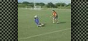 Dive from a kneeling position in soccer