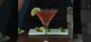 Make a pretty-in-pink Cosmopolitan