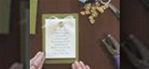 Make wedding invitations with charms