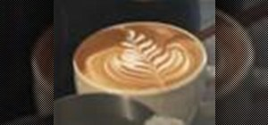 Make a rosetta and a rose in latte art