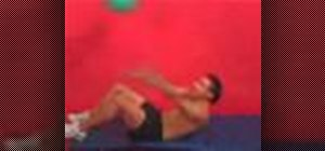 Exercise with the sit up and rotation with ball throw