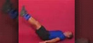 Exercise with the lying on back straight leg raise