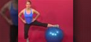 Exercise with the side split squat on stability ball