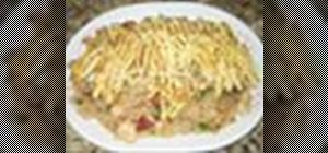 Make fried rice from day old rice