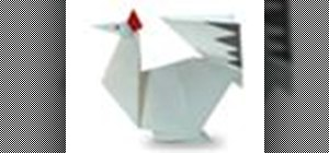 Origami a sitting chicken Japanese style