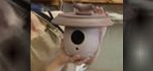 Make a clay birdhouse