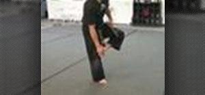 Perform a Taekwondo front kick