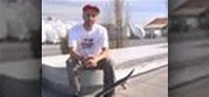 Half-cab 180 ollie skateboarding trick
