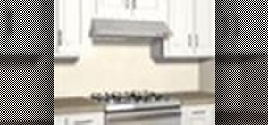 Install a range hood wall vent