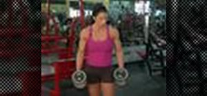 Practice dumbbell shoulder presses for weight training