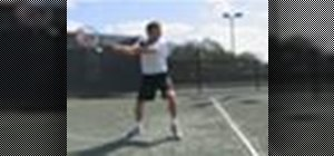 Improve your backhand swing in the game of tennis