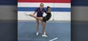 Do single leg variations in cheerleading
