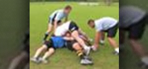 Ruck in a game of rugby