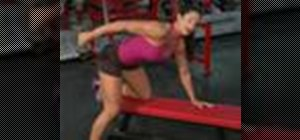 Do tricep kick backs to strengthen the arms