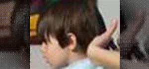 Cut a boy's hair