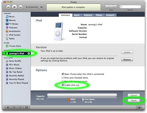 itunes instructions for ipod