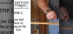 Replace old shoe molding in your home