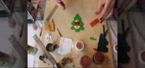 Make Christmas tree ornaments by hand out of polymer clay