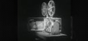 Operate a 16mm motion picture projector