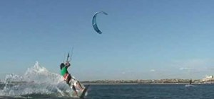 Pull a back-mobe kiteboarding trick