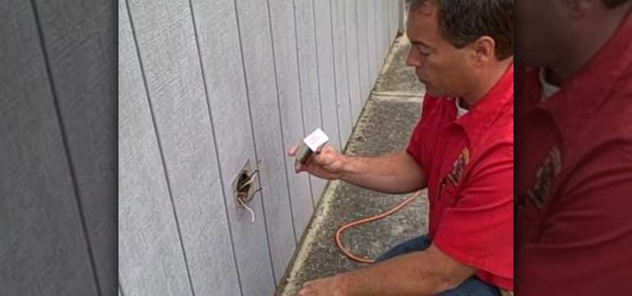 How to Replace an outdoor electrical plug and cover Plumbing