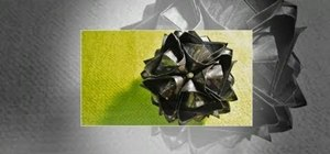 Fold a 3D origami blutenball kusudama