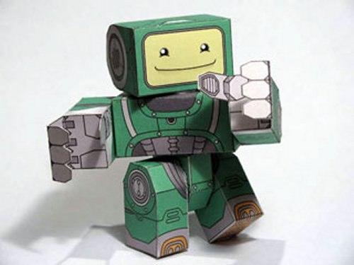 Сделать из бумаги робота