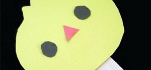 Make a simple paper chicken with your kids
