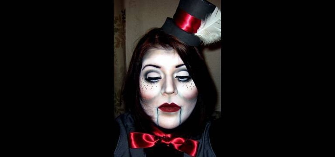 how to apply a ventriloquist dummy makeup look for