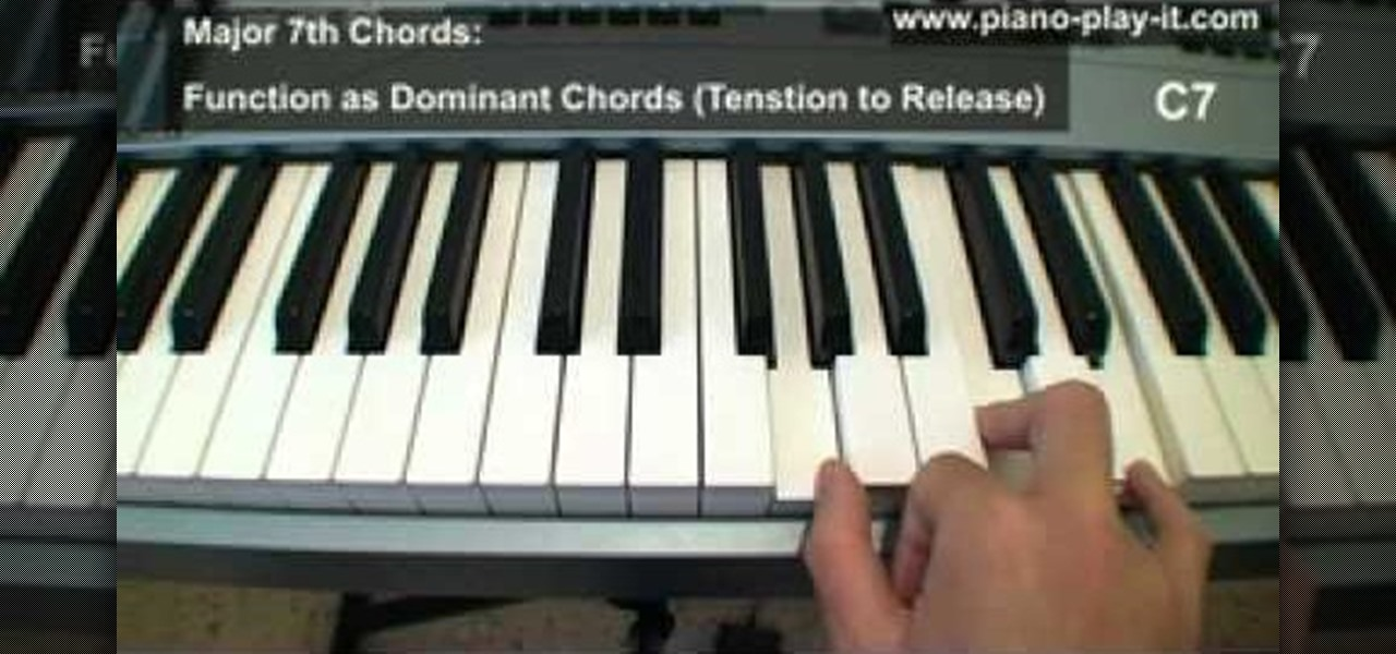 How To Construct Triad Chords And 7th Chords On The Piano Piano