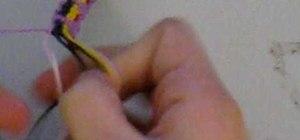 Braid a cute cupcake patterned friendship bracelet