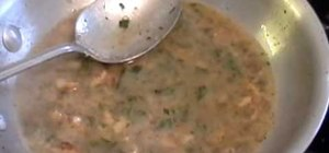 Make tarragon walnut brown butter sauce for chicken