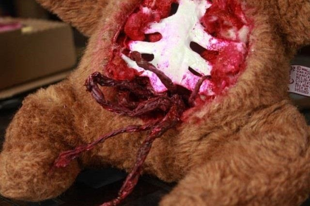 How to Turn a Cute & Innocent Teddy Bear into a Man-Eating Grizzly Zombie for Halloween