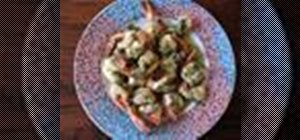 Cook a delicious Parmesan and shrimp scampi