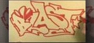 Draw graffiti outlines for street art